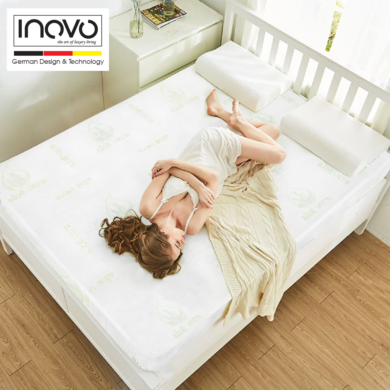 the inovo memory foam mattress medium plush feel 10. Black Bedroom Furniture Sets. Home Design Ideas