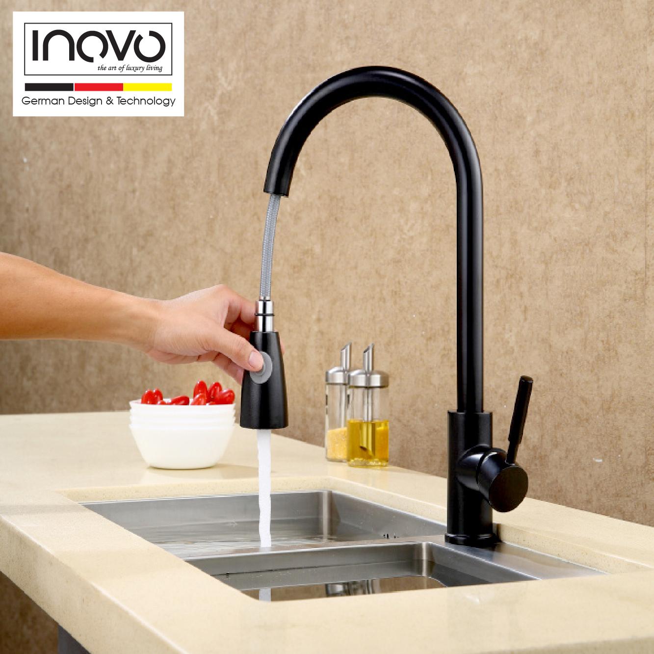 INOVO Cosima Kitchen mixer tap in Full Black - inovo