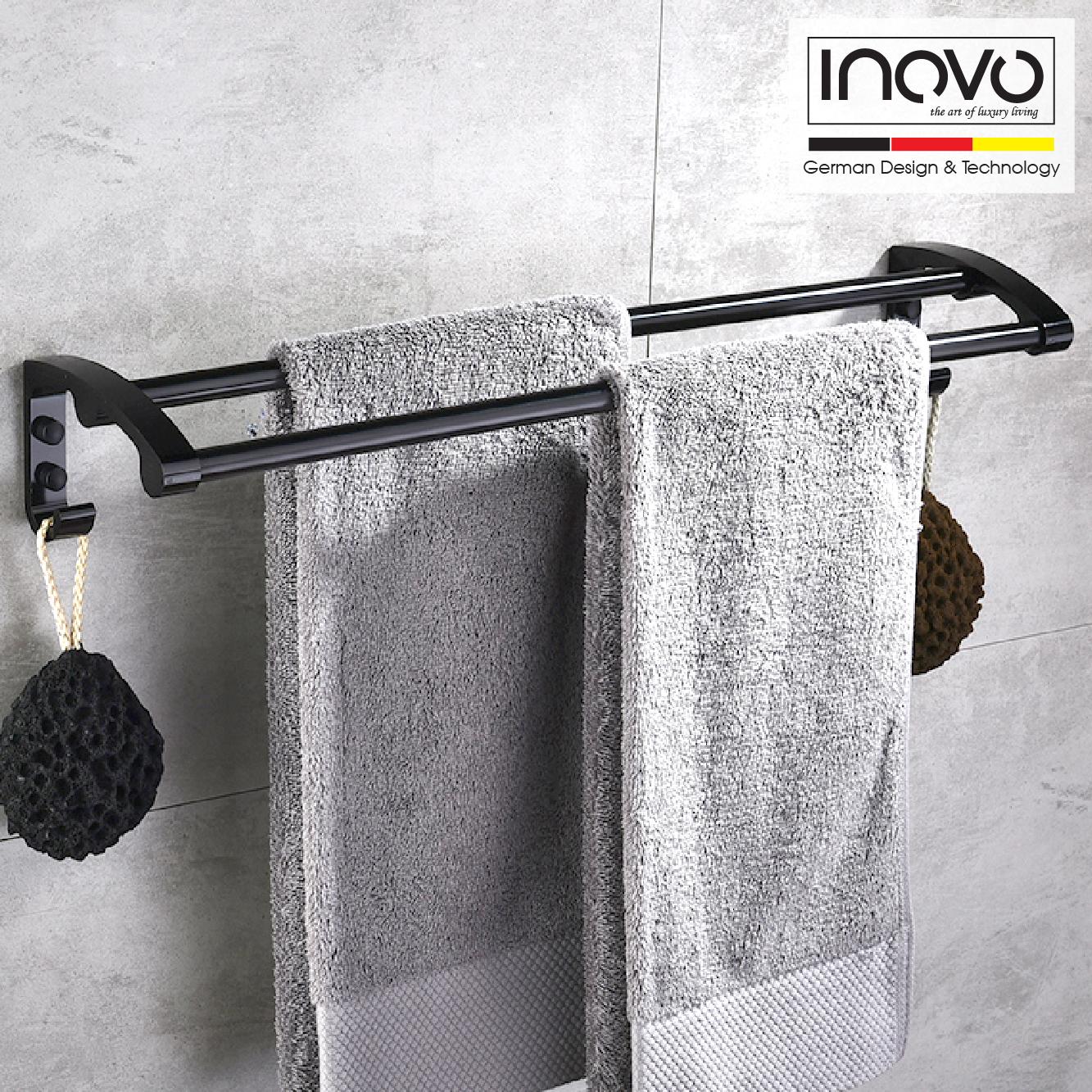 INOVO Enzo Bathroom Accessories in Black 6 pcs set - inovo
