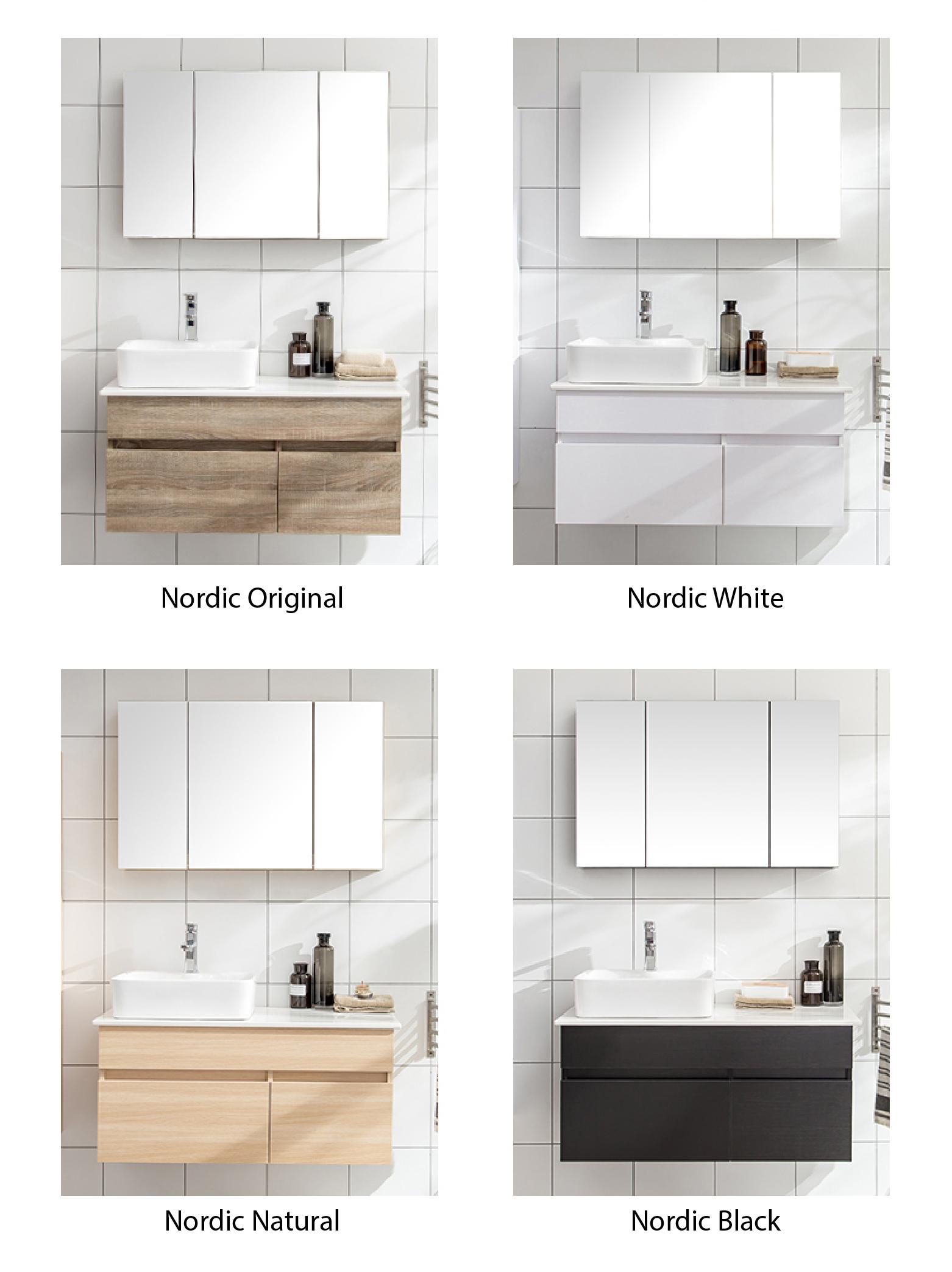 Bathroom Vanity Extended Over Toilet: Luxury Nordic Vanity Cabinet (Nordic Original)